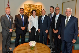 COMPPS CEOs at Parliament House